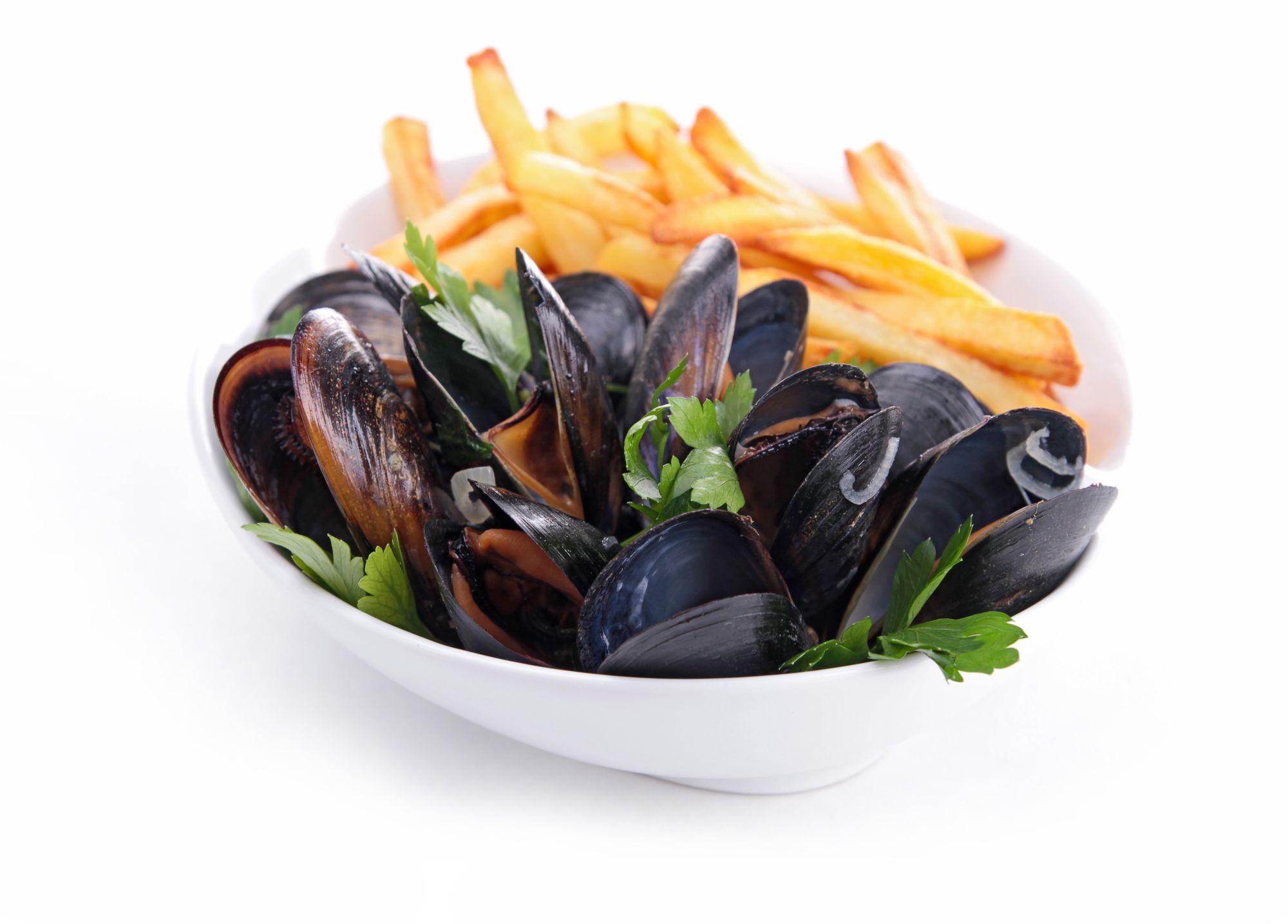 Seafarm mosselen met frietjes